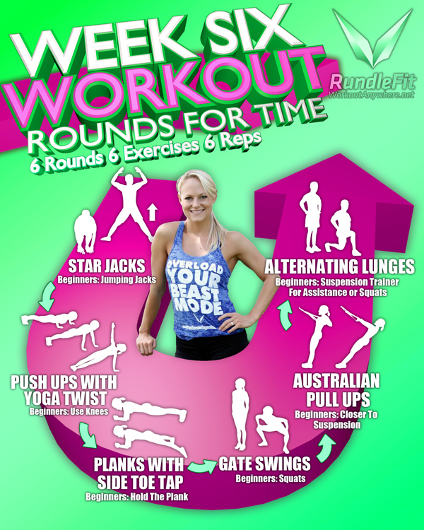 Week 6 Workout Infographic