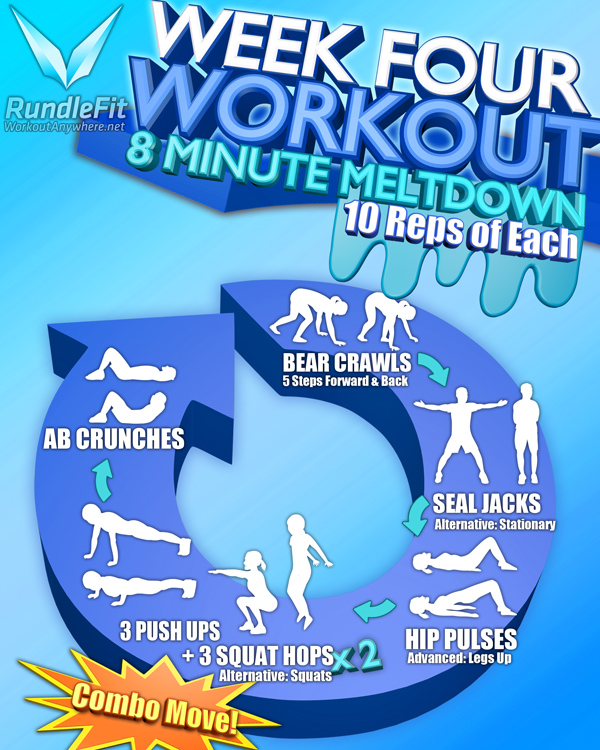 Week Four Workout Infographic
