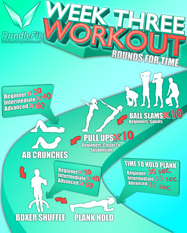 Week Three Workout Infographic